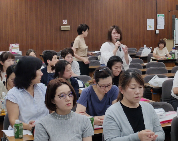 従業員への教育の写真